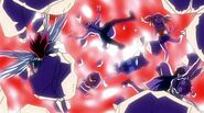 Team Natsu falling into the magic circle