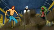 Toby, Reitei and Zalty watch Natsu