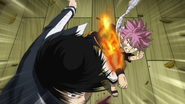 Natsu strikes Zeref