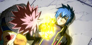 Jellal giving Natsu the Flame of Rebuke