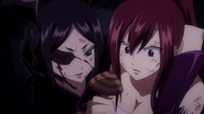 Minerva and Erza threaten Franmalth