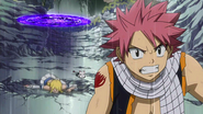 Natsu and co. being attacked