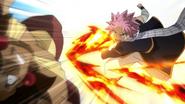 Natsu strikes Ajeel