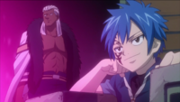 Brain and Jellal in the Tower of Heaven