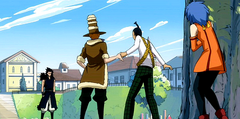 Gajeel Jet Droy and Levy
