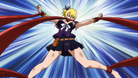 Lucy trapped by Flare
