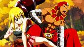 Scorpio fighting alongside Lucy