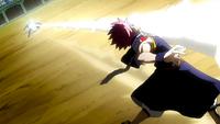 Natsu evades White Dragon's Breath
