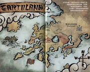 Map of Earth Land