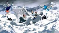 Team Natsu defeating Blizzardvern