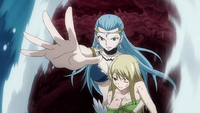 Lucy protected by Aquarius