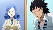 Juvia and Gajeel transfer - Fairy Academy