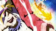 Natsu Defeating Bora