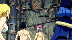 Team Natsu & Juvia vs. Tower of Heaven Guards