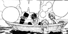 Team Natsu and Juvia on boat