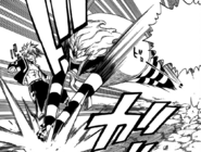 Franmalth attempts to attack Natsu