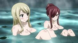Erza y Lucy en las Aguas Termales