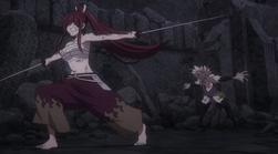 Kyouka Derrotada por Erza