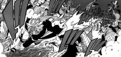 Natsu se abre paso entre los monstruos