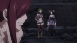 Erza Frente a Kyouka y Seilah