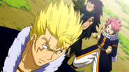 Natsu and Gajeel want to fight with Laxus