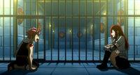 Natsu and real Erza in prison