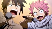 Natsu and Gray singing