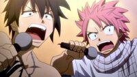 Natsu and Gray singing