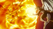 Igneel's breath attack against Acnologia