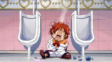 Ichiya derrotado en el baño por Angel