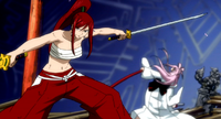 Ikaruga defeated by Erza