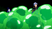 Juvia and Lyon inside slime
