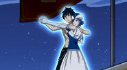Gray and Juvia preparing Unison Raid