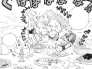 Natsu and Happy eating