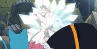Gray ratuje Natsu, zamrażając Totomaru