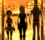 Strange trio appears