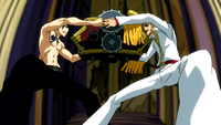Gray and Sugarboy fight for the clock part