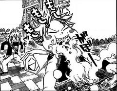 Haru se sorprende al ver a Natsu comer fuego