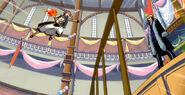 Natsu attacks Laxus