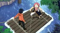 Natsu trapped by Gray