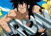472px-Gajeel eats iron made by Levy