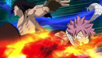 Natsu and Gajeel get ready to attack