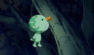 Nico stuck on a tree