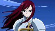Erza standing tough