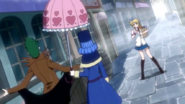 Lucy confronted by Sol and Juvia