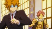 Natsu and Loke ready to face the Royal Army