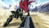 Erza continues to fight the soldiers