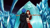 Jellal talking to a bound Erza