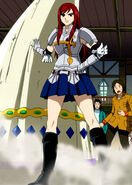 Erza arrives with her horn