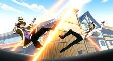 Alzack ataca Jet y Droy